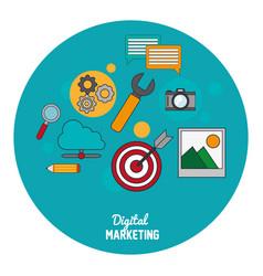 Digital marketing seo media network vector