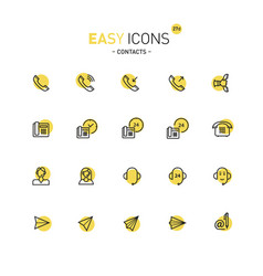 Easy icons 27d contacts vector