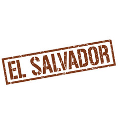 El salvador brown square stamp vector