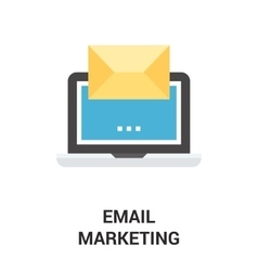 email marketing icon concept vector image