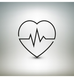 Heart beat icon healthcare and medical vector