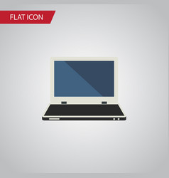 Isolated laptop flat icon notebook element vector