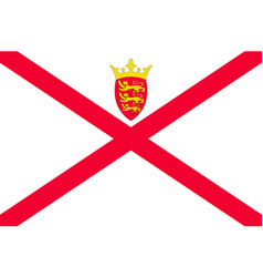 Jersey national flag vector