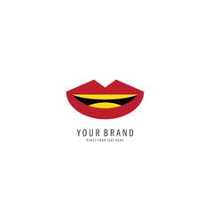 kissing logo vector image