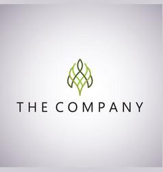 leaf logo ideas design on vector image