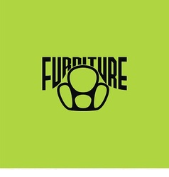 logo armchair vector image