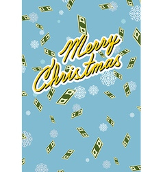 Marry christmas wealth falling money vector