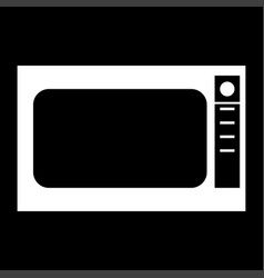 Microwave oven it is the white color icon vector