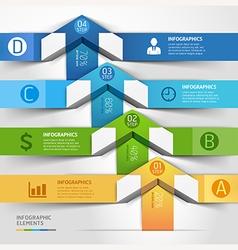 Modern arrow infographics template vector