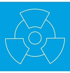 New radiation thin line icon vector image