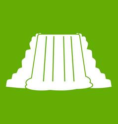 Niagara falls icon green vector