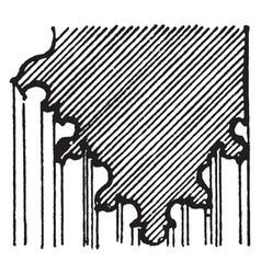 Pier-arch molding ornamental feature vintage vector