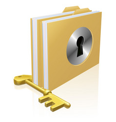 secure file folder vector image vector image