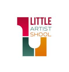 sign for children art school vector image vector image