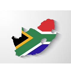 South africa map with shadow effect presentation vector