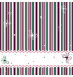 striped background with white frame vector image