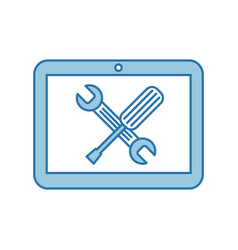 Tablet device with tools vector