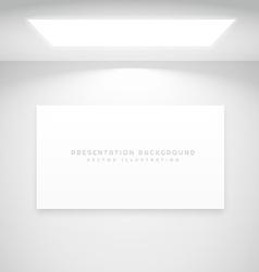 white presentation background vector image vector image
