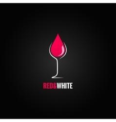 wine glass design drop background vector image