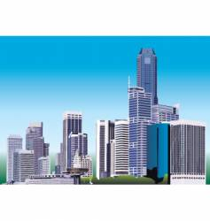 City graphic vector