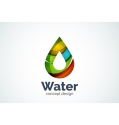 Abstract business company water drop logo template vector