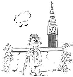 Romantic London vector image