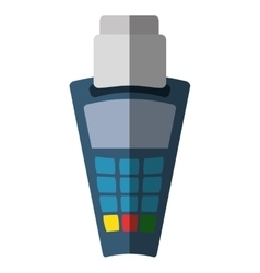 Voucher machine isolated icon vector