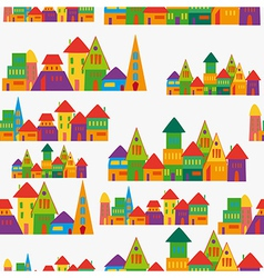 Cute town pattern vector