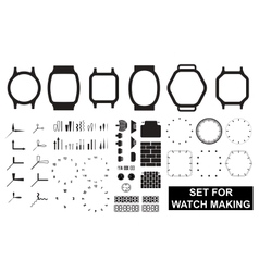 Set for watch making vector