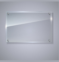Blank transparent glass plate vector