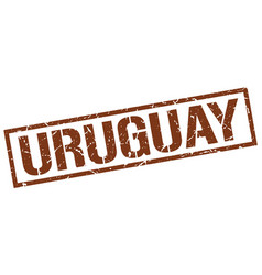 Uruguay brown square stamp vector