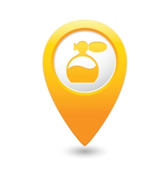 Perfume icon yellow map pointer vector
