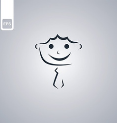 Stylised person vector