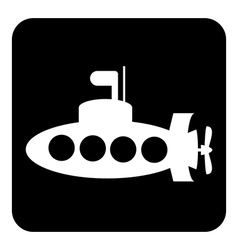 Submarine button vector
