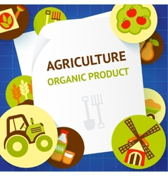 Agriculture background template vector