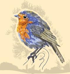 Water color bird vector