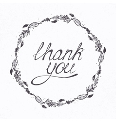 With thank you hand lettering and vector