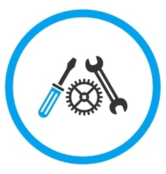 Tuning service rounded icon vector