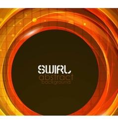 orange abstract flow background vector image