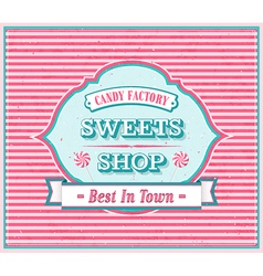 Vintage sweets shop poster vector