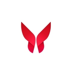 Butterfly beautiful modern logo vector