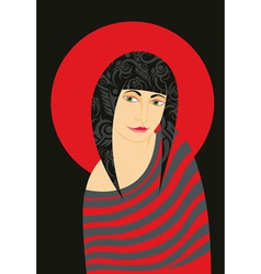 Girl Red Striped vector image
