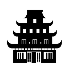 Chinesse temple building vector