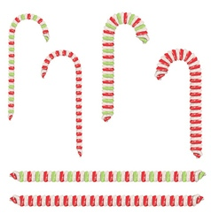 Candy canes set2 vector