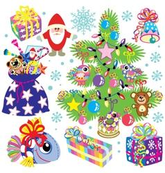 christmas set for kids vector image
