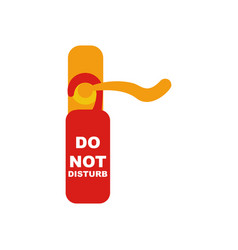 do not disturb sign and door knob vector image
