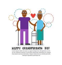 grandparents couple together happy grandmother and vector image
