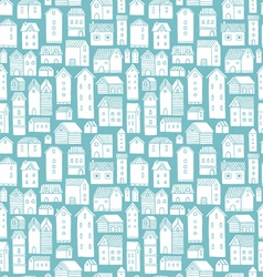 Houses seamless pattern vector image vector image