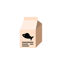 Isolated feeding box flat icon fish nutrient vector