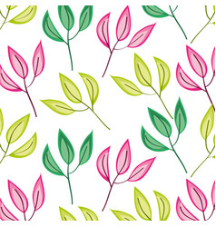 Leafs plant decorative pattern vector
